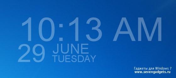 гаджет часы для windows 7 скачать