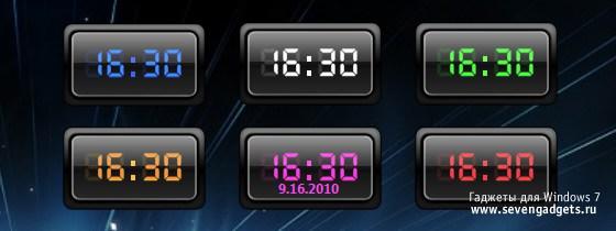 гаджет часы в международном формате для windows 7