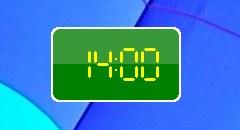 Часы Windows 7
